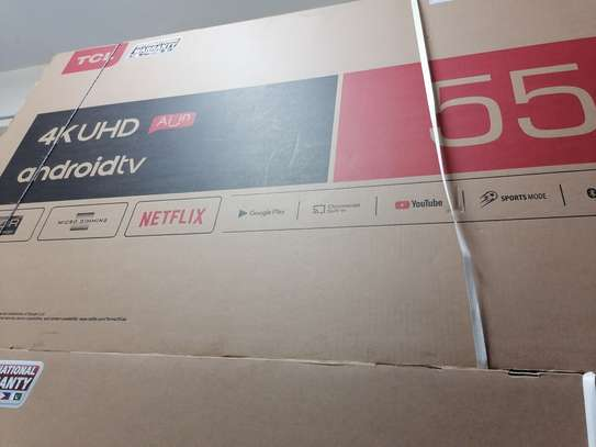 Brand new 55 inch tcl smart android 4k uhd clarity