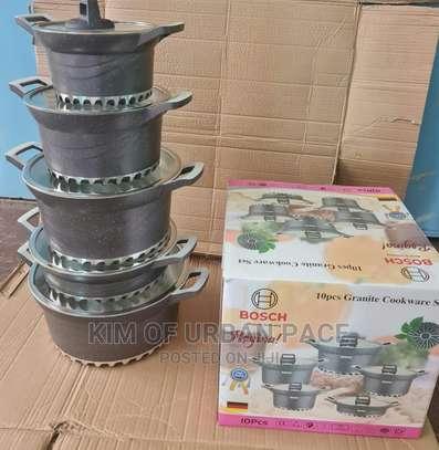 Bosch 10pieces Granite Cookware Set. image 2