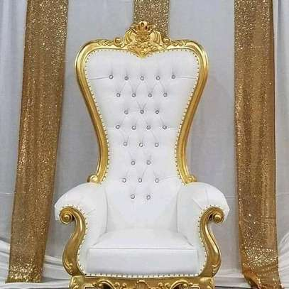 Elegant Timeless Antique Wingback Chairs image 3