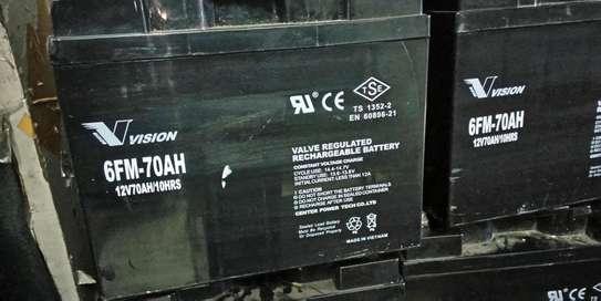 Vision Valve Regulated Rechargeable Battery 12v/70ah/10hr image 2