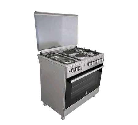 Standing Cooker, 90cm X 60cm, 5GB, Electric Oven, Half Inox image 3