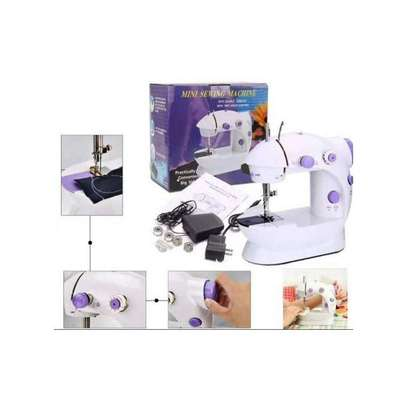 Electric Portable Sewing Machine Double Speed Automatic Thread Home Tailor image 1