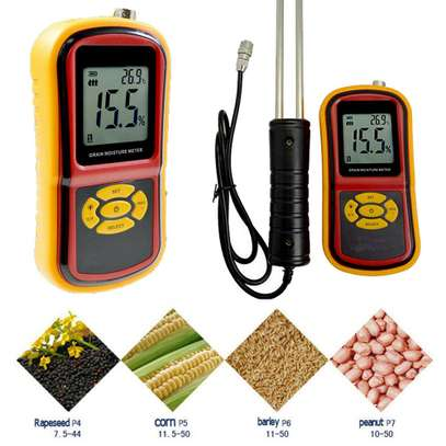 Portable digital Grain Moisture Humidity Meter temperat Tester brand new image 1