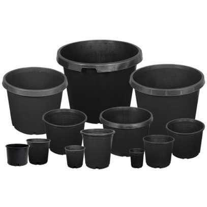 Reusable/Recyclable  Plastic Plant Seedling Flower Pots - 10 Pcs image 3