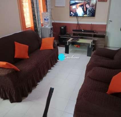dark brown 7 seater elastic sofa covers image 1