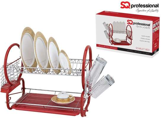 SQ PROFESSIONAL 2 TIER DISH RACK-STAINLESS STEEL image 1