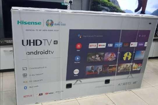 Hisense 65'' 4K ULTRA HD SMART TV, FRAMELESS, BLUETOOTH, HDR  SERIES-Black-New-2020 image 2