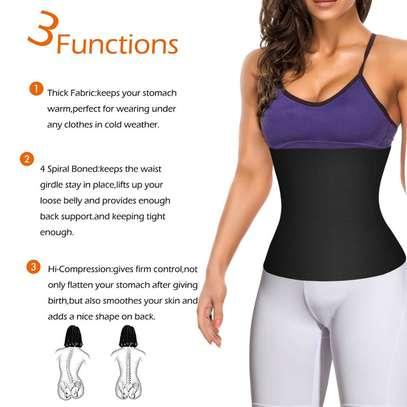 Waist Trainer Corset Belt for Weight Loss Sport Workout Body Shaper Tummy Fat Burner image 3