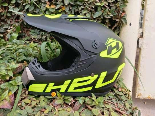 New Luminous Green Offroad Helmet