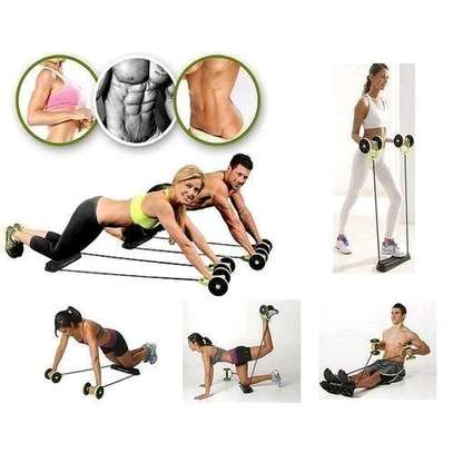 Revoflex Xtreme Home Total Body Fitness Gym Revoflex Xtreme Abs Trainer Resistance Exercise Abdominal Trainer Body Resistance Workout Training Tonning Machine Gym Exercise ABS image 2