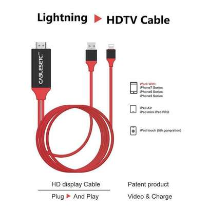 Lightning To HDMI/HDTV AV TV Cable Adapter -iphone/iPads image 2