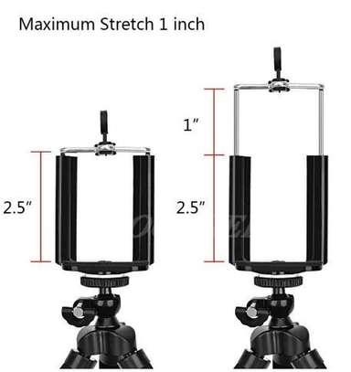 Flexible smartphone ,Webcam Portable Sponge Camera Tripod- Black image 2