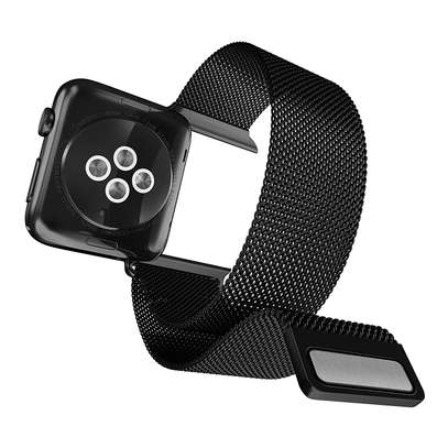 X-Doria 42mm Apple Watch Replacement Band, Mesh Band Metal Loop Band (Black) image 1
