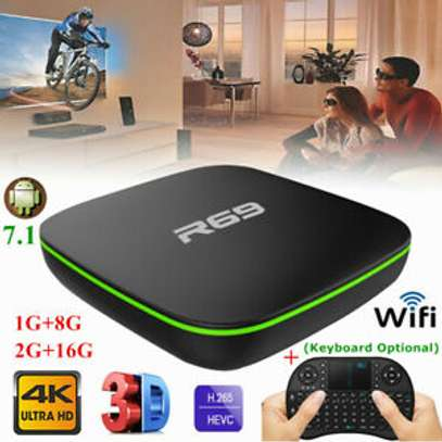 R69 Android 7.1 Smart TV Box 1+8G Quad Core HD 2.4GHz WiFi 4K image 2