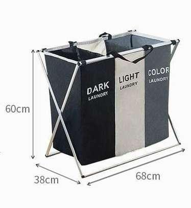 3 Compartment Laundry Basket image 1