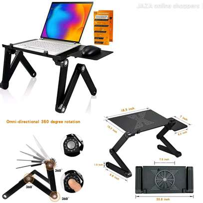 Laptop Stand Adjustable... With Fan and Mouse Pad image 1