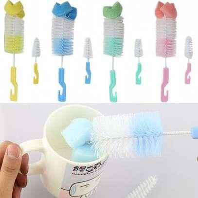 Baby Nipple Brush Bottle Brush 360 Degree Sponge Cleaner With Pacifier Brush