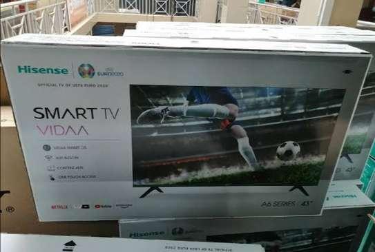"Hisense 43"" Smart HD Frameless LED TV - Black-New-2020 image 1"