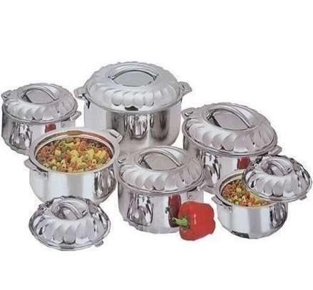6 piece Hotpots stainless steel image 1