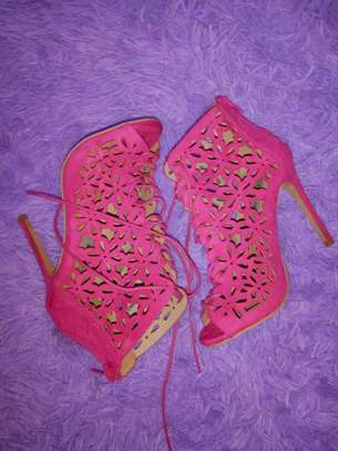Pink lace heels size 36