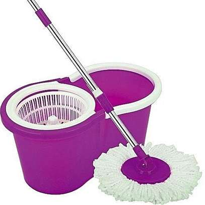 Spin Mop & Bucket Set - Purple image 1
