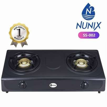 Nunix Stainless Steel Table Double Burner Gas Cooker image 1