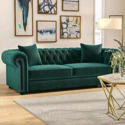 Green three seater sofas for sale in Nairobi Kenya/chester sofas/three seater sofas/sofa designs in kenya image 1