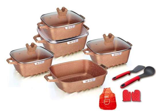 14pcs square shaped cookware set image 1