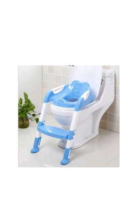 NEW strong portable step ladder potty Seat (2-7 years)- Blue image 1