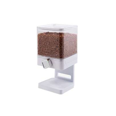 Generic Square Double Cereal Dispenser -White image 2
