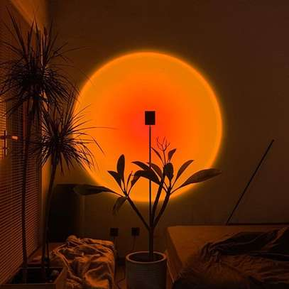 unset Projection Led Light, Rainbow Floor Stand Modern Lamp Night Light for Living Room Bedroom Romantic Projector Gift for Wedding Birthday Party -USB Charging image 1
