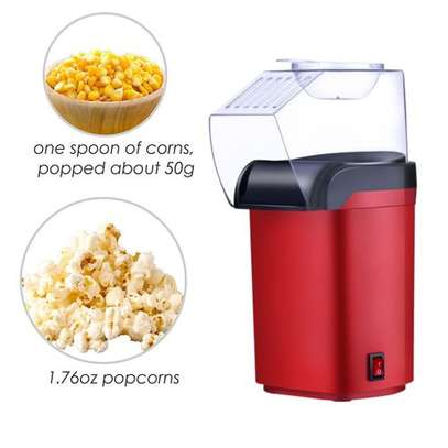 Small Hot Air Electric Popcorn Popper Maker Machine EU Easy Store Red image 5