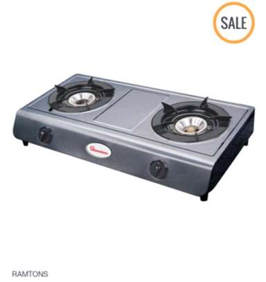 Ramtons Double Burner Gas Cooker - Silver image 2