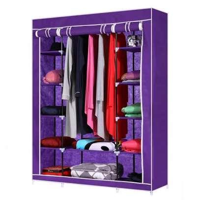 wardrobe wooden 3c portable image 3