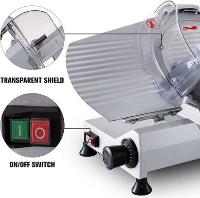Commercial Meat Slicer, 10 inch Electric Food Slicer, 240W Frozen Meat Deli Slicer, Semi-Auto Meat Slicer For Commercial and Home use image 3