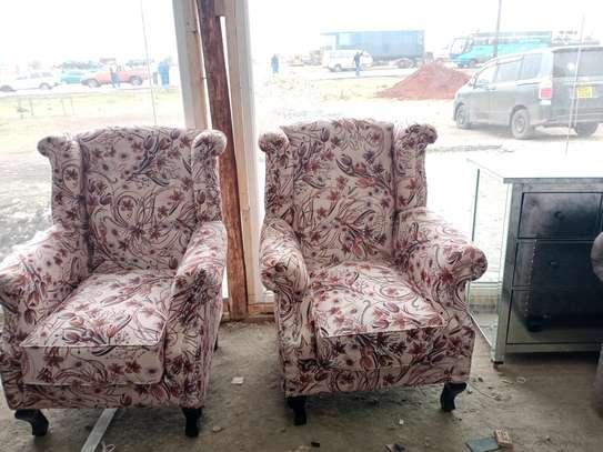 Complete set of sofas/classic livingroom sofa designs/three seater sofa/two seater sofa/wingback sofas/Victorian sofas image 3