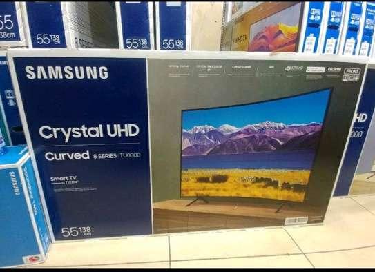SAMSUNG 55 SMART 4K CURVED Crystal UHD TV image 1