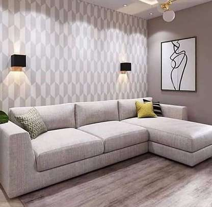 Six seater L shaped sofa image 1
