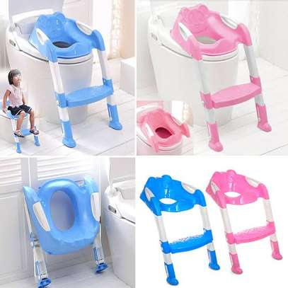 Potty Training Toilet Seat with Step Stool Ladder image 1