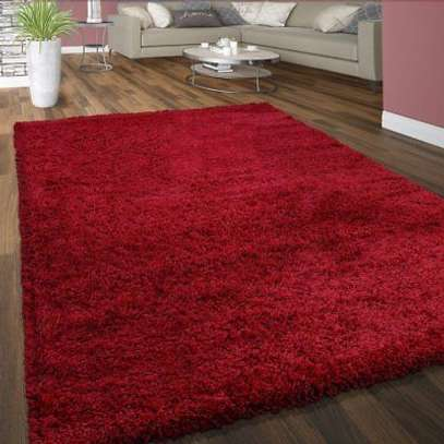 RED Beautiful Fluffy Carpet 7*10 image 2
