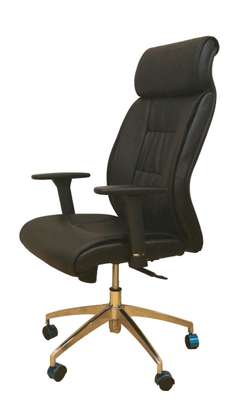 Leather Draughtsman Plus Reception Counter Office Chair image 2