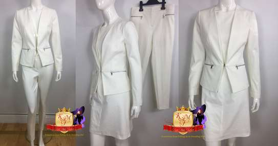 Off White 3 Piece Set Suits Made in UK.