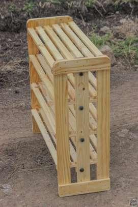 Wooden shoe racks image 2