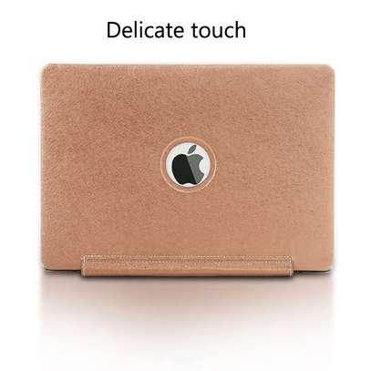 Macbook case cover Siamese PU silk grain 11.6 12 13.3 inch Air Retina Pro image 3