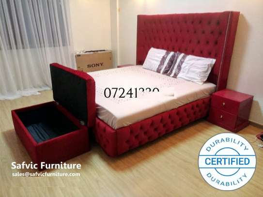 Athens Buttoned King Size Bed
