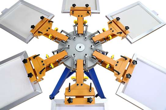 6 Color 6 Station Silk Screen Printing Machine image 1