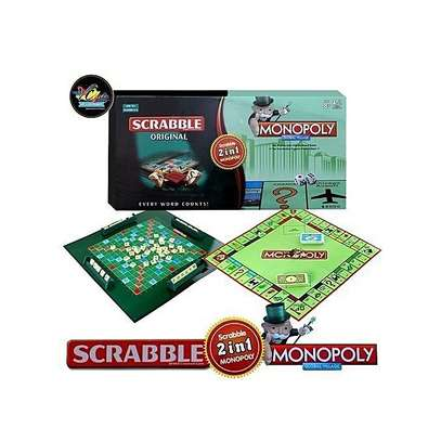 scrabble and monopoly 2 in 1