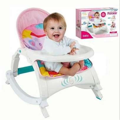 2 in 1 Baby Rocker/Dining set(0-3 years) - Pink image 1