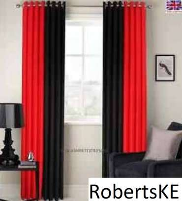 red and black curtain image 1