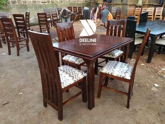 4 seater Mahogany Frame dining set. image 1